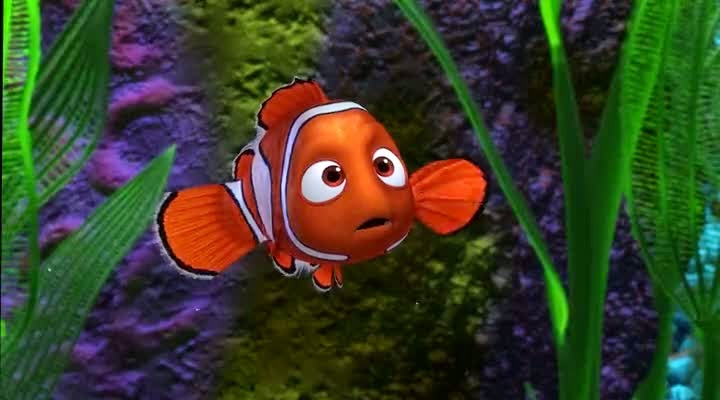 Screen Shot Of Hollywood Movie Finding Nemo (2003) In Hindi English Full Movie Free Download And Watch Online at Alldownloads4u.Com