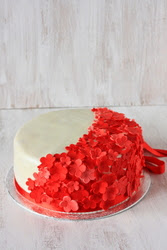 Orders – Vanilla Cherry Fondant Cake