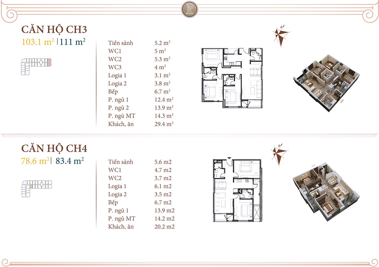 Chi tiết căn hộ 03 04 dự án Roman Plaza