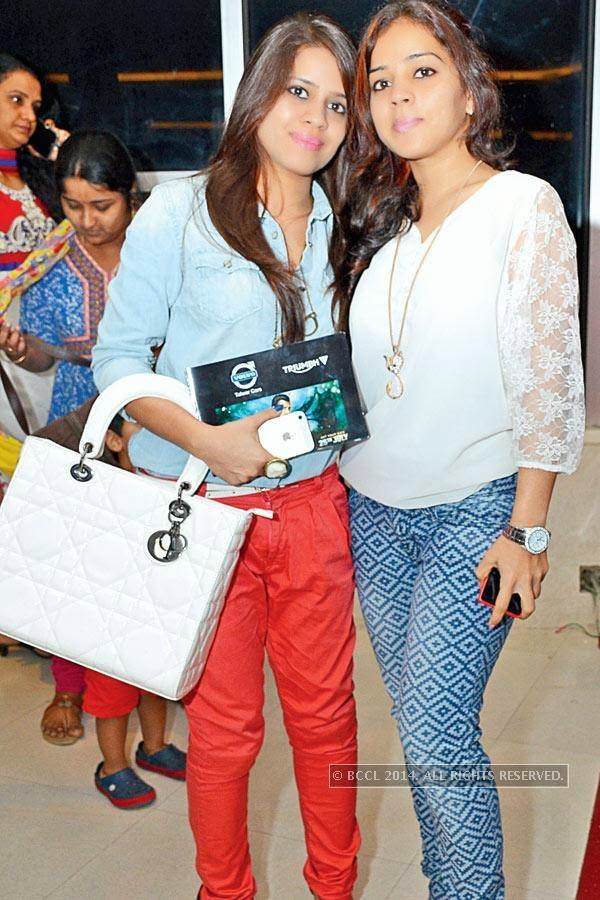 Komal and Sonali during the screening of Salman Khan's latest film Kick, at a city multiplex.
