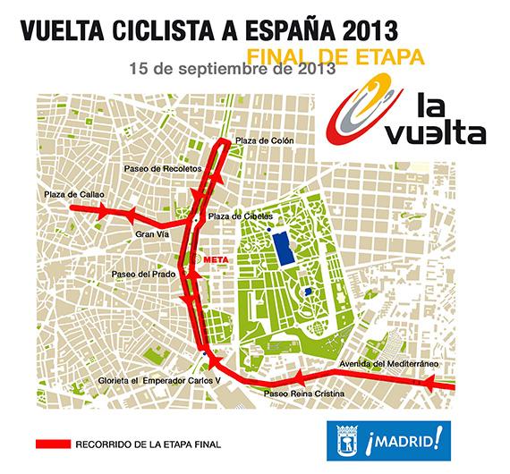 Cortes de tráfico por la etapa final de la Vuelta Ciclista a España
