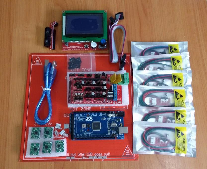 ชุดคิท 3D Printer Ramps 1 4 Kit With Mega 2560 R3 +12864 LCD