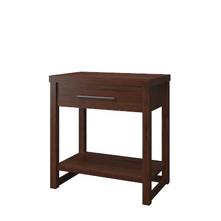Sumatra Nightstand with Shelf, Temperance Walnut