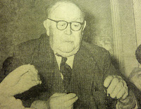 Mr Victor Dickerson, aged 85, playing Dominoes at the Guildhall in 1973