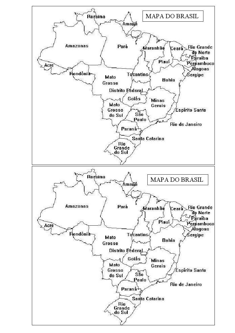 MAPA DO BRASIL   ATIVIDADES