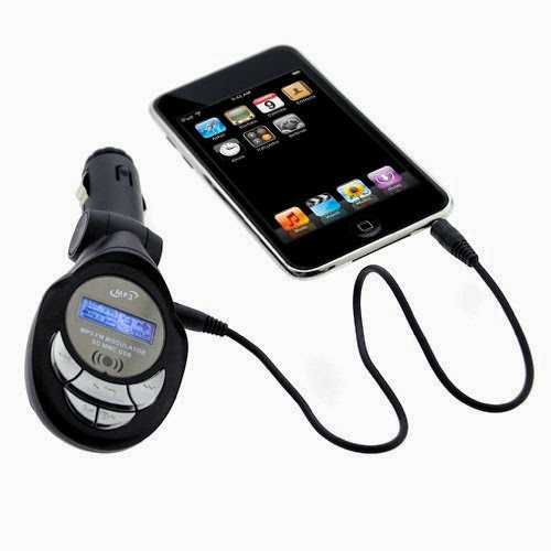 GTMax 3.5mm LED FM Transmitter with SD Slot for Apple iPod Nano 2nd Generation