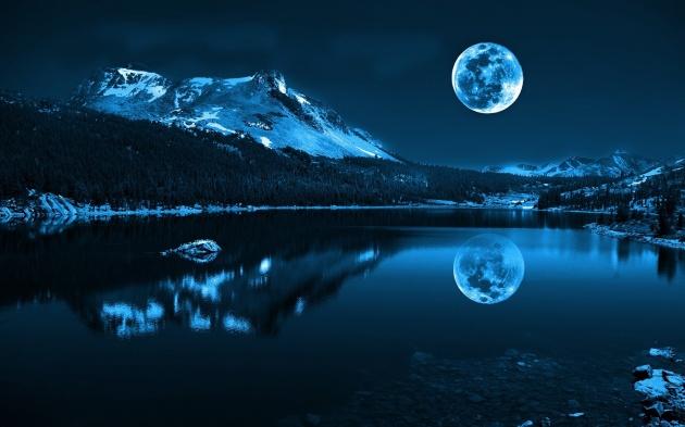 Ảnh trăng lạnh, trăng mùa đông