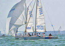 J/80 sailing Spanish National Championship off Puerto Sherry, Spain