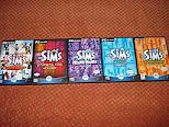 Vendo 5 juegos de los Sims  Sims