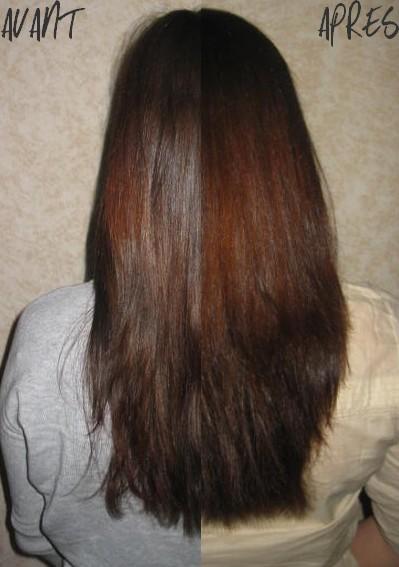 Huile de ricin pousse de cheveux avant apres