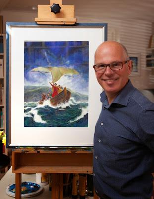 Willem de Vink shows some of his artwork
