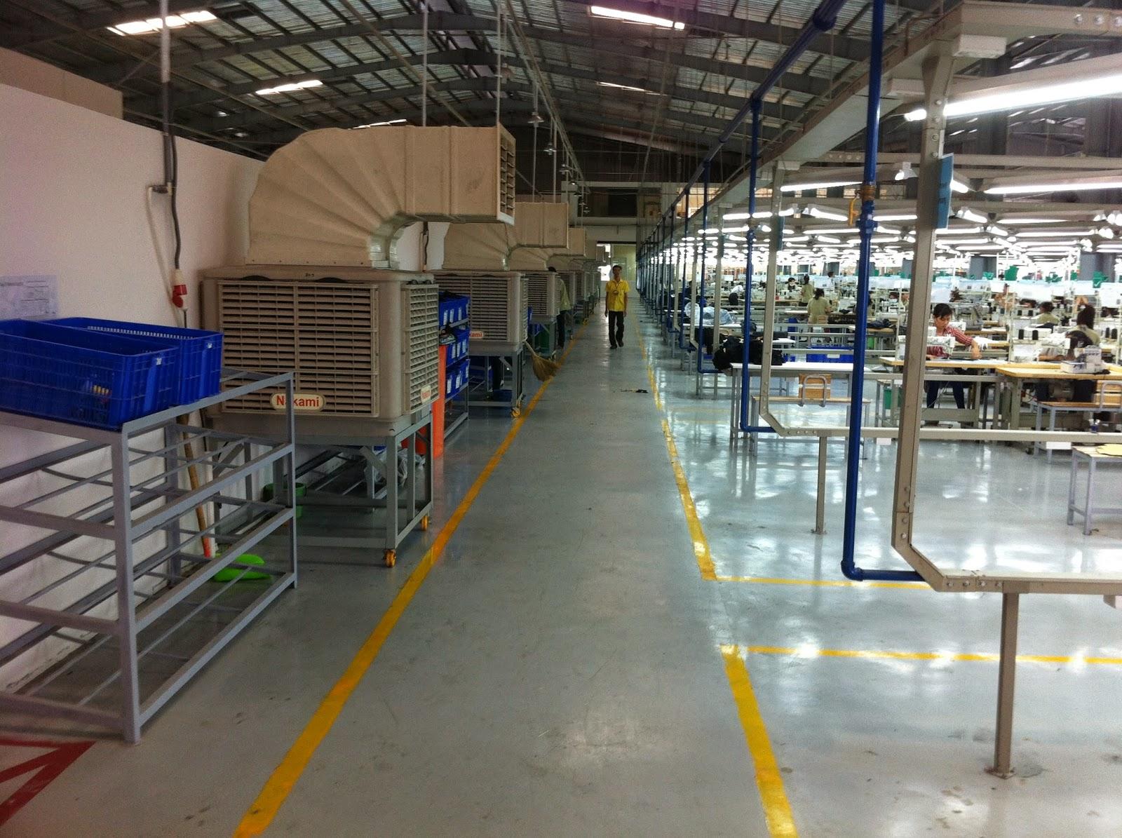 Dự án lắp đặt máy làm mát tại may BODINITS LONG AN