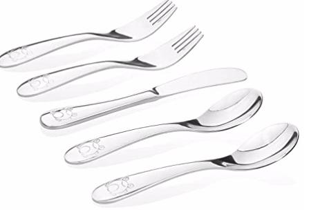 Kiddobloom stainless steel toddler utensils