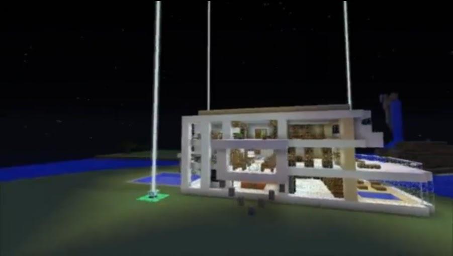 Mapa de minecraft casa moderna deacarga mundo for Casa moderna minecraft 0 10 4