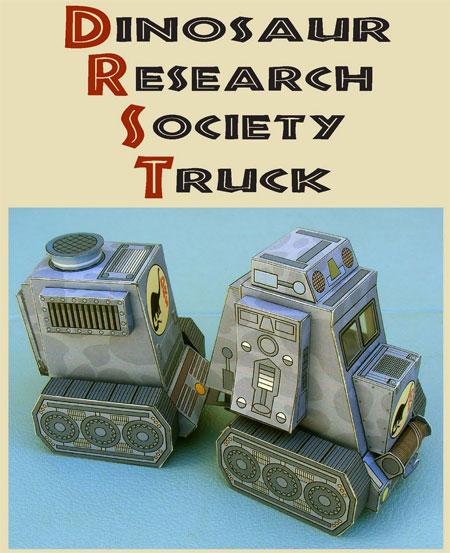 Dino Truck Papercraft