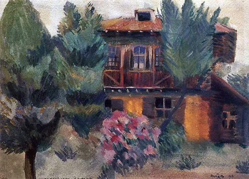 Martiros Saryan - Persian house, 1913.
