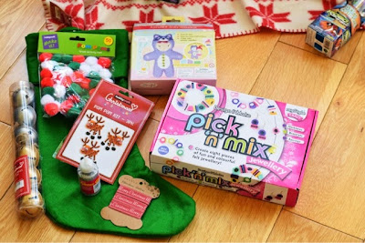 Hobbycraft pom pom kit, christmas stocking kit,