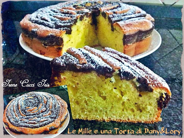 torta spirale con crema al cioccolato - con e senza bimby
