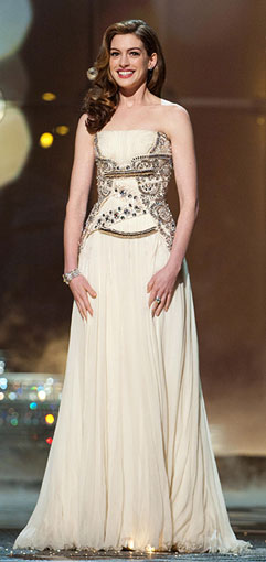 anne hathaway vivienne westwood dress. was by Vivienne Westwood.