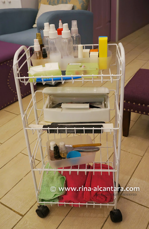portable nail tools rack
