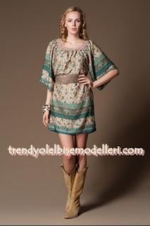 trendyol sandro Replay Kuşaklı Turkuaz yeşili İpek Elbise
