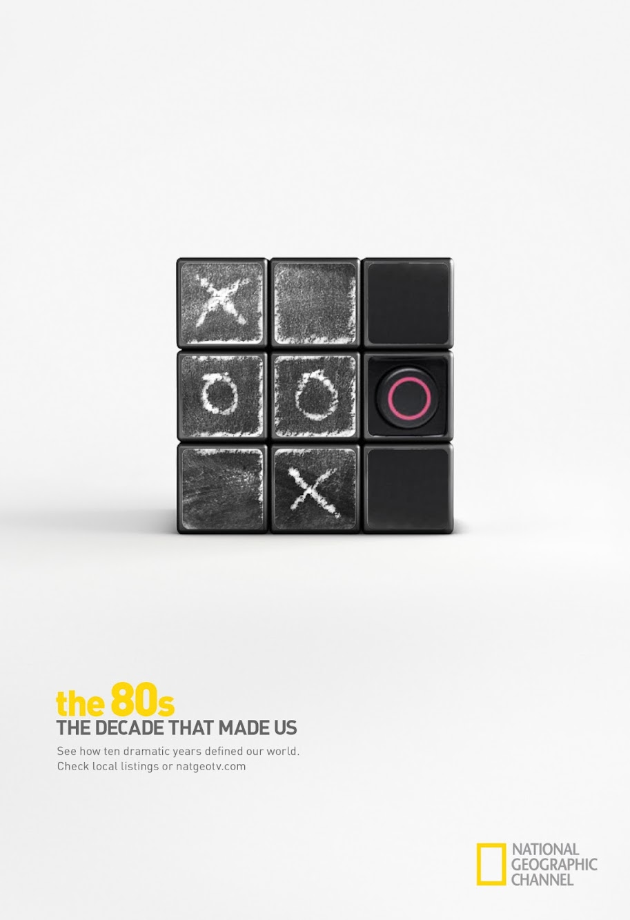National Geographic Rubik's Cube As A Cool Storytelling Device — The 80's Print and TV Ad Campaign