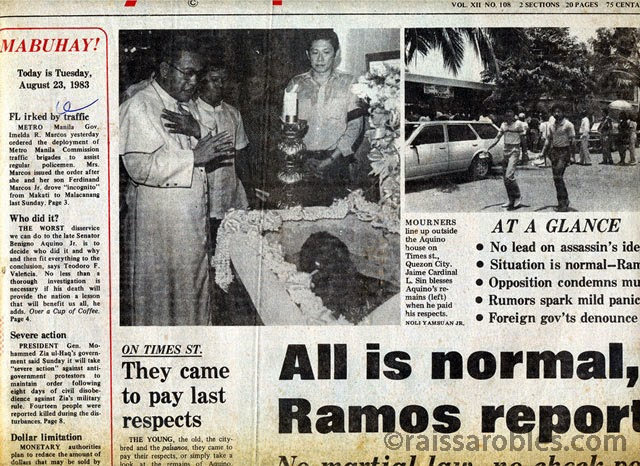 Ninoy's funeral was the day Filipinos stopped being afraid
