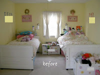 shared girls bedroom twin beds