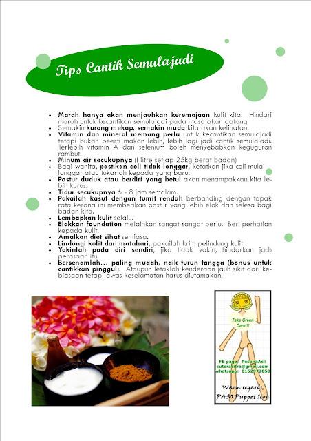 http://pesonaasli.blogspot.com tips cantik semulajadi