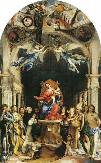 Lorenzo Lotto - Madonna with the Child and Saints