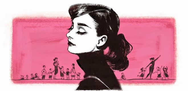 British Actress Audrey Hepburn Birthday google doodle
