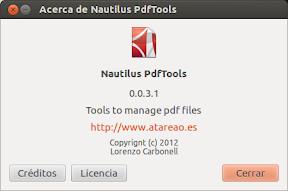 Une y separa archivos PDF con Nautilus-PdfTools en Ubuntu