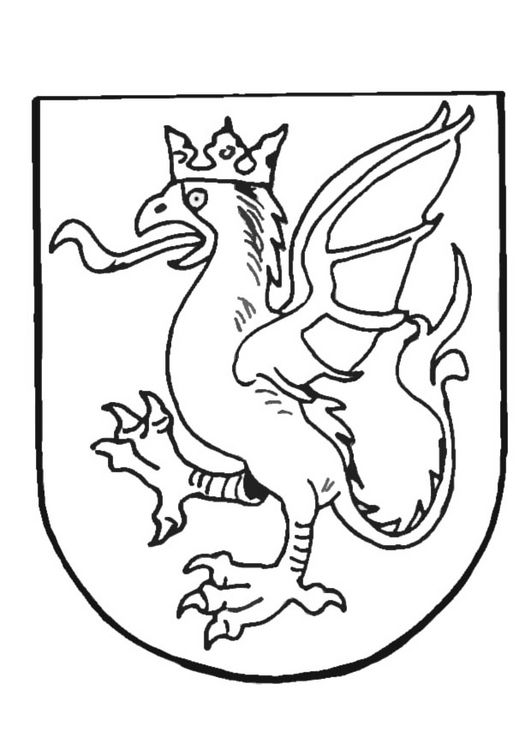middle age shield coloring pages