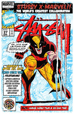 Marvel Comics x Stussy Clothing Collection Series 1 Promotional Art