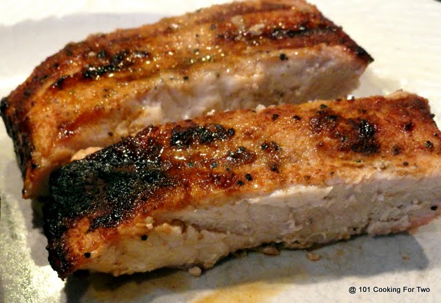 Grilled Cajun Country Style Boneless Pork Ribs from 101 Cooking For Two