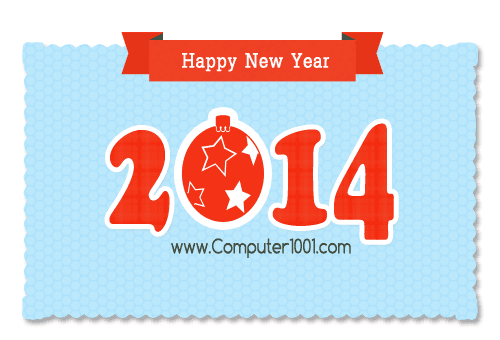 Happy New Year 2014 - Computer 1001