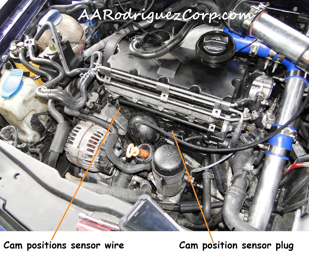 change   cam position sensor  minute job
