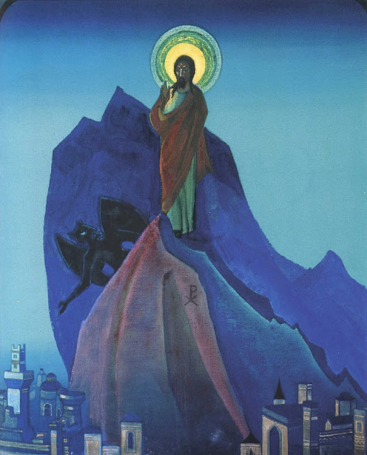 Nicholas Roerich - Temptation of Christ