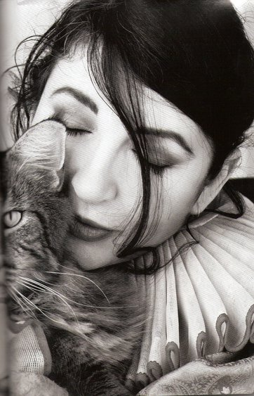 Kate Bush and a cat