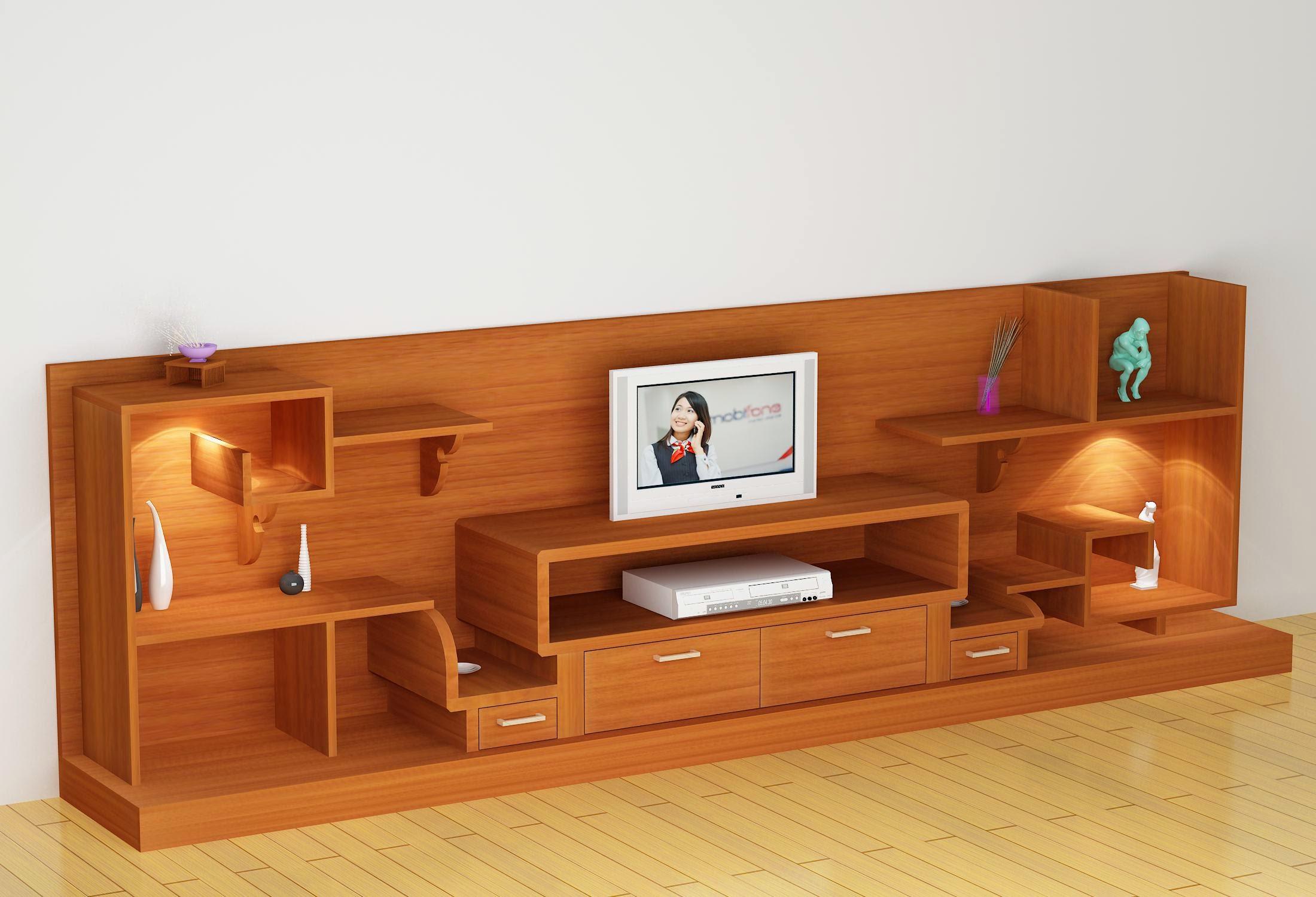 Kệ tivi gỗ trong trang trí nội thất