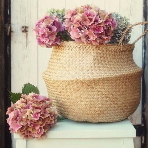 decorar con cestas vintage life