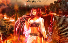 female fire Godess of War
