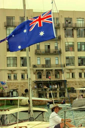 Colours to the mast. Celebrating Australia Day in Sydney Harbour