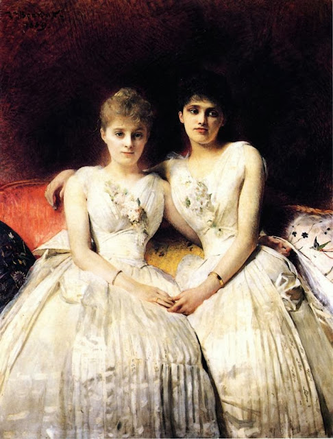 Léon Bonnat - Portrait of Marthe and Therese Galoppe