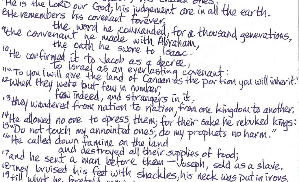 Journey through Psalms   An Addict's View: Psalm 105:1-27 (KJV