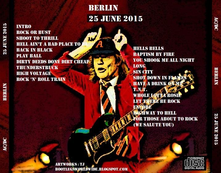 AC/DC - Olympiastadion, Berlin, 25 June 2015 (CD & Covers