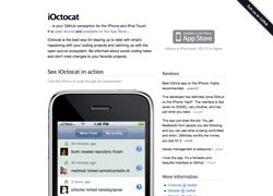 iOctocat is your GitHub companion for the iPhone and iPod Touch