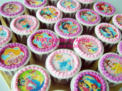 Birthday Cupcake Edible Image Disney Princess Ai-sha Puchong Jaya