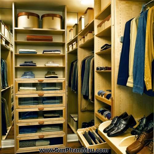 <strong><em>Thiết kế tủ quần áo</em></strong> - Phòng thay đồ-2