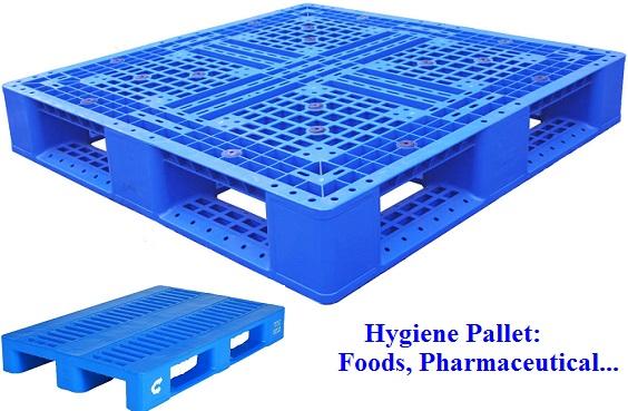 Pallet chứa hàng thực phẩm và dược phẩm